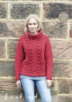 Hayfield Chunky Tweed Knitting Pattern - 7520 Sweater